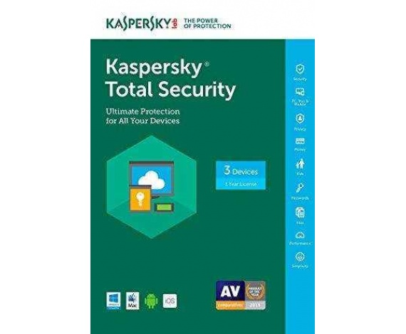 KASPERSKY TOTAL SECURITY 3 KUL 1 YIL