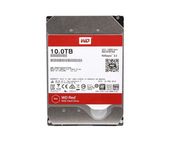 "WD RED 3,5"" 10TB 256mb 7/24-NAS-SERVER (WD101EFAX) HDD"
