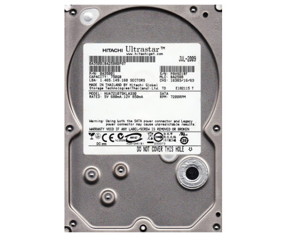 "HITACHI HUA721075KLA 3,5"" 750GB 7/24 Refurbished HDD"