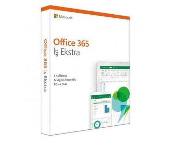 MS OFFICE 365 İŞ EKSTRA TR KUTU KLQ-00487 / KLQ-00437