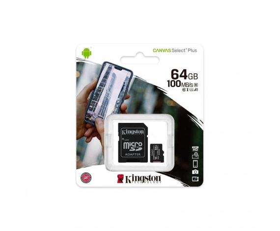 64GB MICRO SD CANVAS PLUS KINGSTON SDCS2/64GB