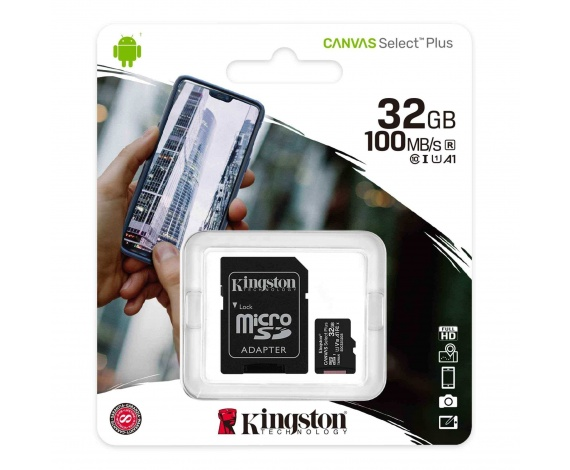 32GB MICRO SD CANVAS PLUS KINGSTON SDCS2/32GB