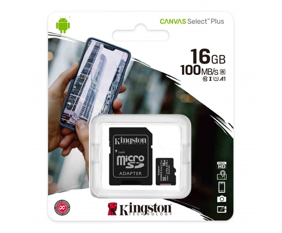 16GB MICRO SD CANVAS PLUS KINGSTON SDCS2/16GB